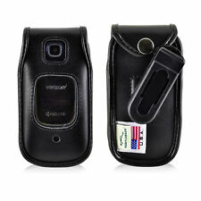 Kyocera Cadence Flip Phone Case Turtleback Black Plastic Removable Clip