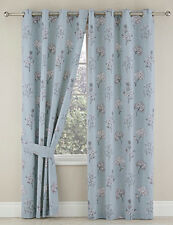 """Tiffany Blackout Thermal Ring Top Eyelet Heading Curtains 4 Colours Available Duck Egg 46x90"""" (117x229cm)"""