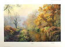 "REX PRESTON ""Autumn Walk"" riverbank SIGNED LIMITED ED! SIZE:54cm x 73cm NEW RARE"