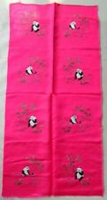 Chinese Peking 100%Hand embroidered pandas Embroidery