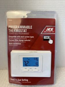 NEW ACE Programmable Thermostat 14142 Heat/1 Cool Setting Model #4693099