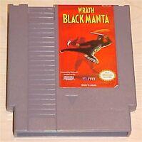 WRATH OF THE BLACK MANTA Nintendo NES Vintage retro original game cartridge