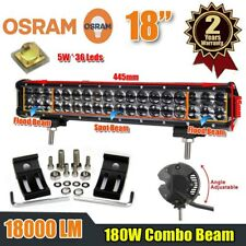 18INCH 180W LED SPOT FLOOD COMBO DRIVING OFFROAD WORK LIGHT BAR 4WD DRIVING JEEP