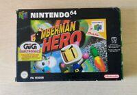 NINTENDO 64 BOMBERMAN HERO VERSIONE PAL ITALIANA N64  COMPLETO GIG RARO