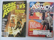 ISAAC ASIMOV'S SCIENCE FICTION MAGAZINE 2 ISSUE LOT, JAN - FEB 1978 & SEPT 1991