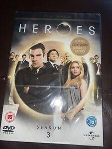 Heroes Season 3 Blu-Ray Disc Used (6 Disc Box Set) NEW & SEALED