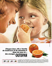 PUBLICITE ADVERTISING 094  1965  OUTSPAN  oranges vitamines C