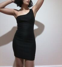 New One shoulder black dress