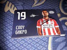 Signierte AK Cody Gakpo  PSV EINDHOVEN NEU MEGA RAR