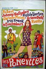 Les PONEYTTES Belgian movie poster 1967 JOHNNY HALLYDAY SYLVIE VARTAN NM