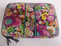 Vera Bradley ~ Quilted Laptop Sleeve Portfolio  Bag ~ Va Va Bloom Pattern ~ GUC!