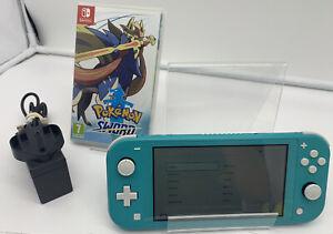 Nintendo Switch Lite Turquoise Green 32GB + Pokémon Sword   GC   FAST SHIPPING