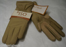 Isotoner Womens Stretch Camel/Beige Gloves Ultra Plush Lining One Size Fits $45