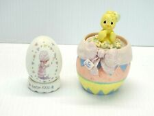 Precious Moments 1992 Easter We Are God's Workmanship & 2001 Hatched w/Love (P59