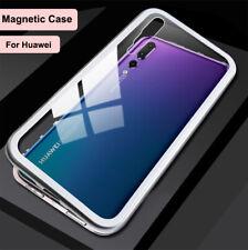 Huawei Mate 20 P20 P30 Pro Nova 3e 3i Magnetic Tempered Glass Phone Case Cover