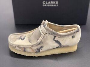 Clarks Originals Wallabee 26148590 Off White Camo 2021 Brand New Complete