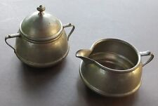 Colonial Pewter By Boardman 306 Sugar & Creamer Vintage Made In Usa