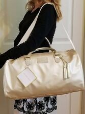 Michael Kors Glam on the Go Weekender Large Gold Travel Duffle Tote Bag BNWT