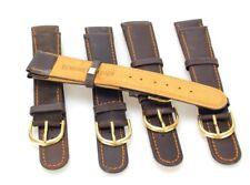 En cuir véritable Lot 5 Bracelets de montre  18 mm  (Réf#V-129)