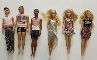 **MATTEL** LOT of 3 Barbie, 3 Ken + ACCESSORIES + 39(!!!) pieces of clothing