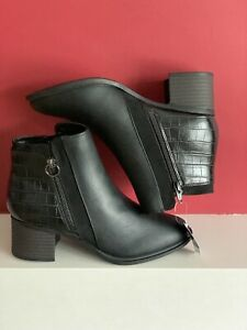 NEXT FOREVER COMFORT BLACK BLOCK HEEL CHELSEA BOOTS size U.K. 6 new with tags