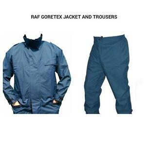RAF GORETEX SET - JACKET AND TROUSERS - USED - WATERPROOF SET - BRITISH ARMY