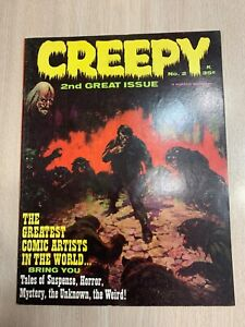 CREEPY 2 VF+ 1965 GLOSSY & GORGEOUS - CHECK PICTURES! WARREN MAGAZINE CLASSIC