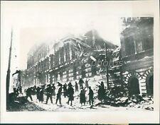 1945 World War II Viennese Clear Street Debris Original News Service Photo