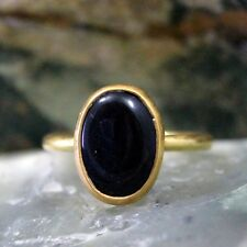 Roman Art Handmade Onyx Ring 925k Sterling Silver Turkish Designer