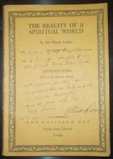 INSCRIBED by OLIVER LODGE to NOBEL LAUREATE GEORGE PAGET THOMSON, SPIRITUALISM