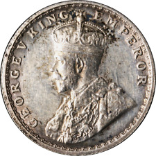 India 1/2 Rupee, 1923 KM #522,  XF -Cleaned