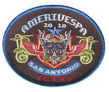 Embroidered Amerivespa 2010 Scooter Rally patch San Antonio Tx. VCOA Vespa  NOS