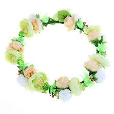 Women Crown Flower Wreath Headband Hair Garland Festival Party Wedding Boho