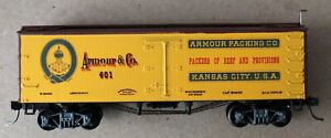 HO Roundhouse Custom Armour & Co. 36' Reefer Car Upgraded KD's AG Decals M.Wheel