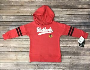 Girls Youth Kids Chicago Blackhawks Red Pull Over Hoodie Size XS, S, M, XL