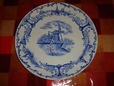 grimwades blue white delph plate vintage antique delft