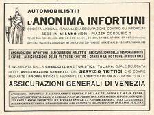 W2838 Assicurazioni Generali di Venezia - Pubblicità del 1939 - Old advertising