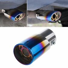 Stainless Steel Blue Colorful Car Rear Round Exhaust Pipe Tail Muffler Tip