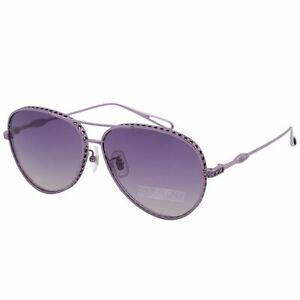 Chopard Women SCH-C86M-4GAX Sunglasses Purple Titanium Aviator Violet Imperiale
