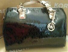 RARE Michael kors Handbag Large Grayson Black Mirror