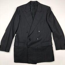 Pierre Balmain Men's Black Nailhead Double Breasted Blazer/Jacket • 40R | 50 EU