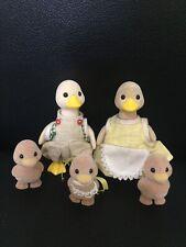 Sylvanian Families Vintage Puddleford Duck Family Figures Rare