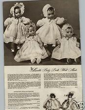 1945 PAPER AD Doll Ideal Baby Mama Organdy Bonnet Eugenia Miniature Church Bride