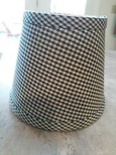 """Lampshade Small Green Check Fabric Clip On 6 X 4.  5"""" Tall"""