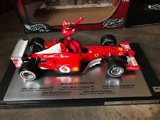 F1 Ferrari F2002, Ltd 5ème titre Mondial SCHUMACHER, 1/18 avec boite