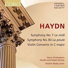 HAYDN: SYMPHONY NO. 7 LE MIDI; SYMPHONY NO. 83 LA POULE; VIOLIN CONCERTO IN C MA