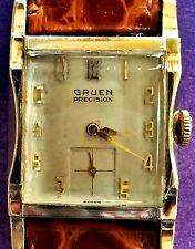 GRUEN PRECISION VINTAGE WRIST WATCH 17 JEWELS 10 KT ROLLED GOLD PLATE
