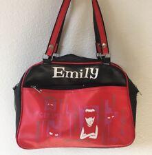 Emily The Strange GET LOST Cat Red & Black Vinyl Nylon Purse Y2K Handbag Purse