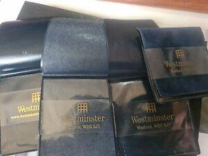 4 x Westminster Blue Velvet/Plastic Flip - Fold Top Coin Wallet Holder