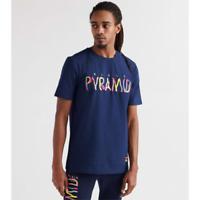 MENS BLACK PYRAMID SHIRT NAVY SIZE MEDIUM (Y1161425-NVY-MX)